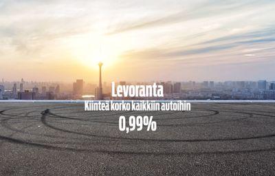 Kiinteä korko kaikkiin autoihin 0,99%