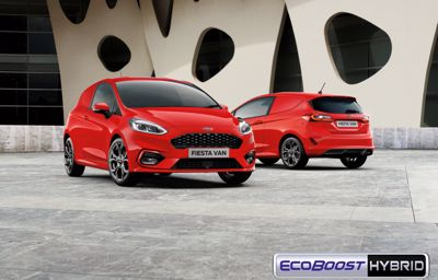 Ford Fiesta Van -mallisto täydentyy kevythybridillä