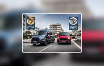Ford Transit ja Transit Custom menestyivät Euro NCAPin ensimmäisessä pakettiautojen aktiivisten turvajärjestelmien testissä