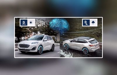 Tekoäly parantaa Ford Kuga Hybridin pitoa ja polttoainetaloudellisuutta