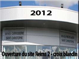 notre site à la Cité de l'Automobile à Reims-Croix Blandin