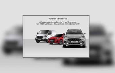 Offres exceptionnelles lors des portes ouvertes chez Ford - Groupe Parot du 15 au 17 octobre !