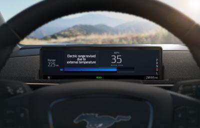 La Mustang Mach-E 100% électrique va s'appuyer sur le Cloud pour estimer l'autonomie restante en temps réel