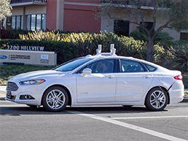 Véhicules autonomes Ford en Californie