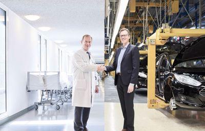 Coopération unique entre Ford et le CHU de Cologne pour le bien des patients.