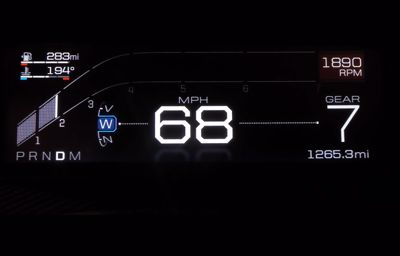Nouveau tableau de bord digital Ford GT
