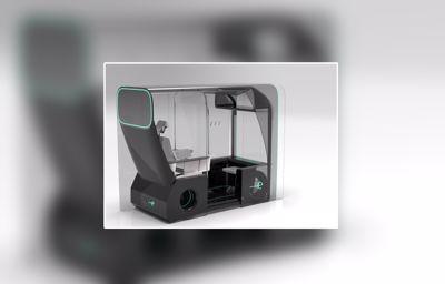 """""""muvone"""", un concept de taxi autonome monoplace compatible 'COVID-19'"""