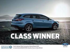 """Ford """"Marque généraliste la plus innovante de 2015"""" aux AutomotiveINNOVATIONS Awards"""