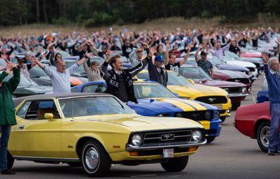 Új világrekord: az eddigi legnagyobb Mustang-találkozón 1326 autó gyűlt össze Európa minden szegletéből Belgiumban