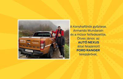 Konyhafőnök győztese a Ford Ranger terepjáróval