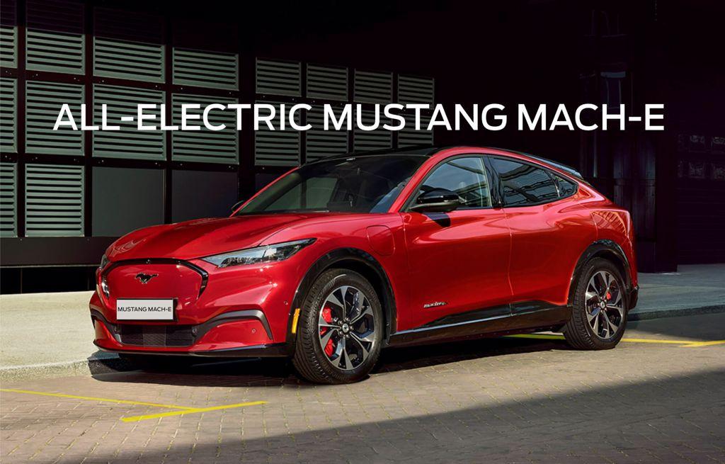 red Mustang Mach-E