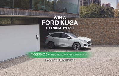 GO GREEN & DRIVE THE COMFORT OF A FORD KUGA HYBRID WITH LIMERICK GAA
