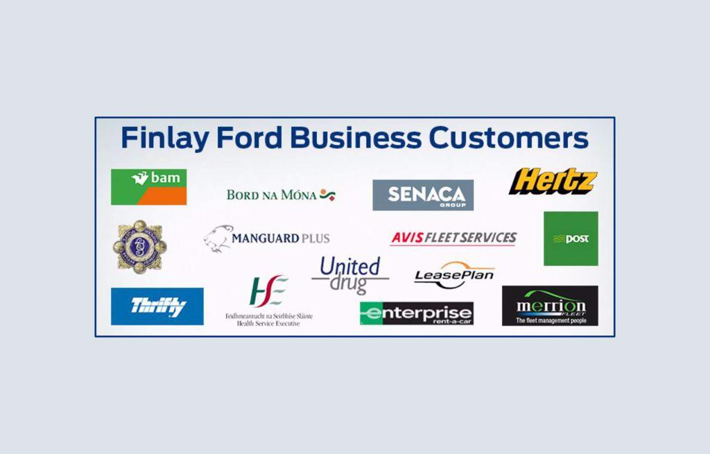 Finlay Ford Naas ans Newbridge- we have vide rangeof business customers