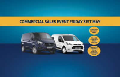 Commerical Sales Event Friday 31st May!