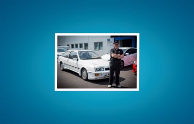 1986 Sierra Cosworth RS 2.0i turboboost, phase 2 chipped, 360bhp