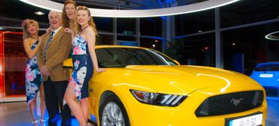 Mustang has arrived in Ireland and is on display at CAB motor Company