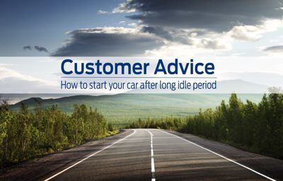 Customer advice on starting car after long idle period