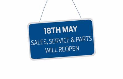 Sales, Service & Parts Departments reopening