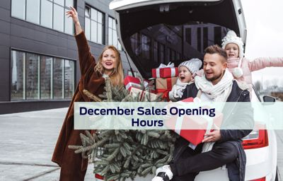 December Sales Opening Hours