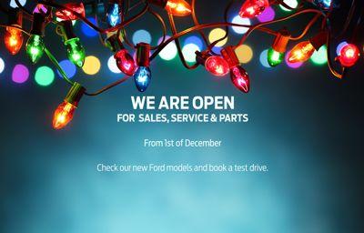 December Re-Opening