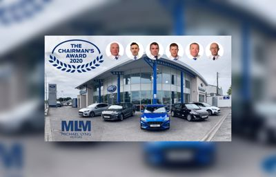 Michael Lyng Motors wins highly prestigious Ford Chairman's Award for 2020!