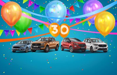 We're celebrating 30 years of being a Ford Dealer