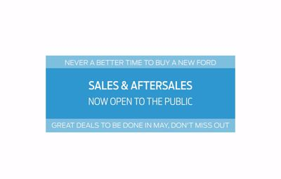 Sales & Aftersales now open