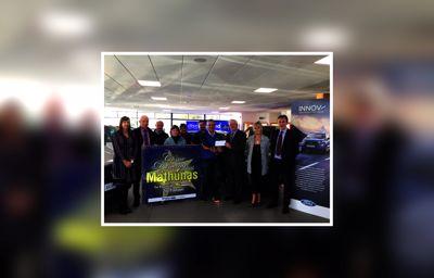 Diarmuid O'Mathuna GAA Club members visit Bandon Motors Showroom