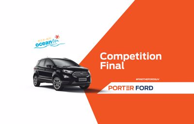 Find the Ford SUV – Winner To Be Chosen Live on OceanFM Tomorrow