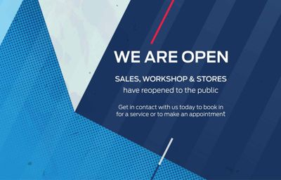 Sales , Workshop and Stores reopening