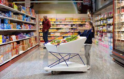 Innovation : voici le chariot de supermarché qui freine tout seul