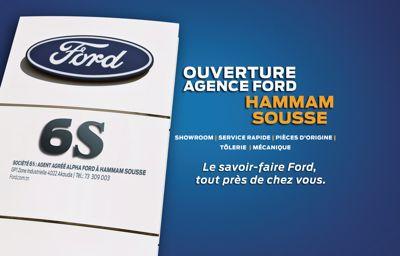 Alpha Ford inaugure sa nouvelle agence, **société 6S, à Sousse**