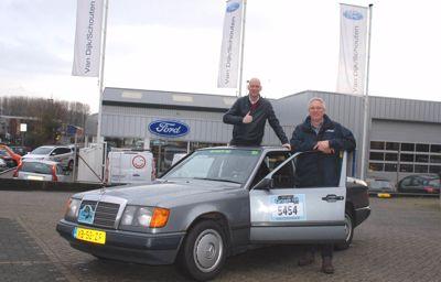 Ford van Dijk/Schouten trotseert de kou in de Carbagerun