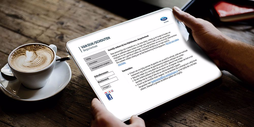 Ford van Dijk/Schouten klantensite