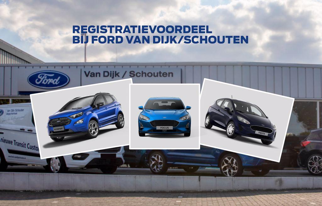 Registratievoordeel bij Ford van Dijk/Schouten in Bergschenhoek