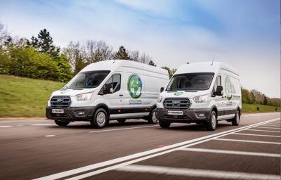 Europese klantenproef voor nieuwe volledig elektrische E-Transit bedrijfswagen