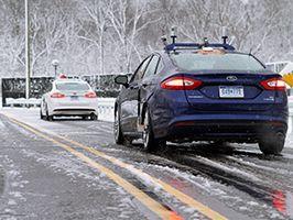 Autonoom rijden in de sneeuw; unicum in industrie. Ford ontwikkelingsprogramma verder versneld