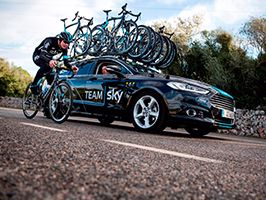 Ford werkt samen met Team Sky