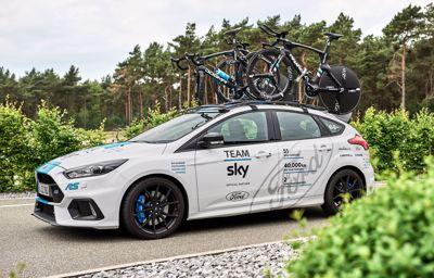 Ford levert voertuigen aan Team Sky