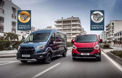 Ford Transit en Transit Custom blinken uit bij Euro NCAP tests