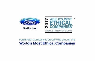 Ford voor achtste jaar op rij een van 's werelds meest ethische bedrijven