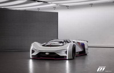 Eerste virtuele game-raceauto die gezamenlijk is ontworpen door gamers en een automerk