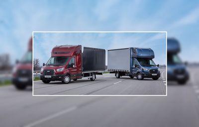 Ford verlengt Transit Chassis Cabine voor groots internationaal transport