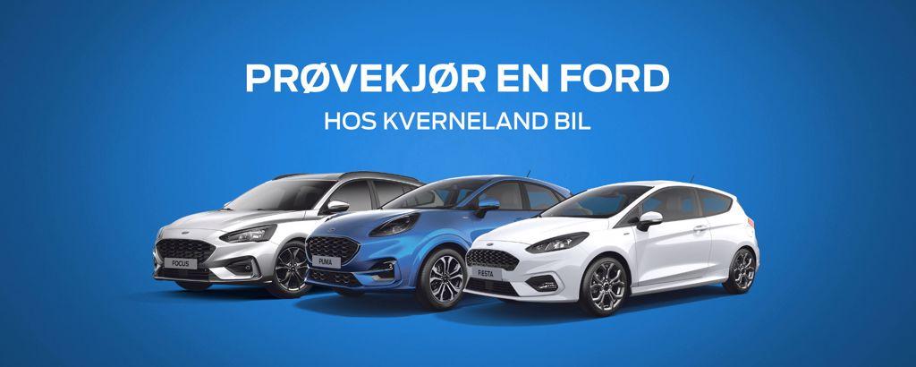 Prøvekjør Ford - Focus, Puma, Fiesta