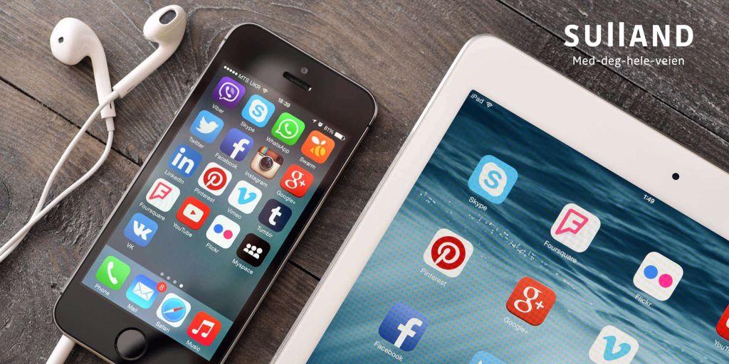 Sulland på sosiale medier