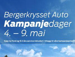 Kampanjedager hos Bergerkrysset Auto 4. mai - 9. mai 2015