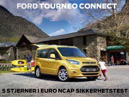 Nye Ford Tourneo Connect med 5-stjerner