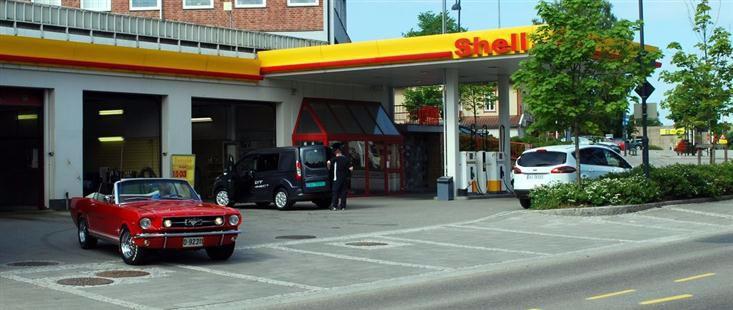 Shell servicestasjon i Mysen