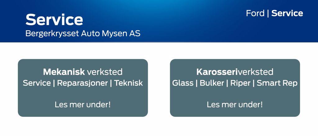 Service - Bergerkrysset Auto Mysen AS