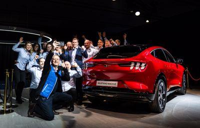 Elektrisk stemning i Trondheim for den nye Ford Mustang Mach-E